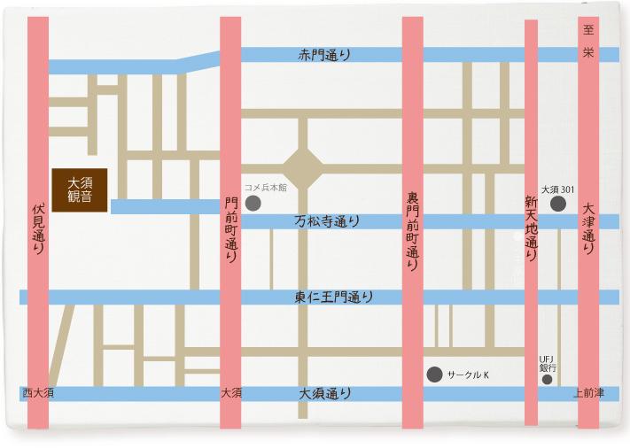 大須のマップ